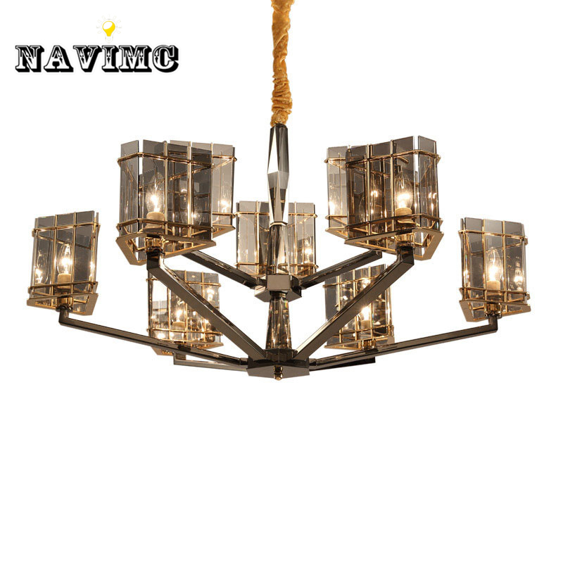 Mediterranean Northern Europe k9 Crystal Chandelier Lighting for Living Room Bedroom Dining Room Restaurant Hanging Pendant Lamp restaurant white chandelier glass crystal lamp chandeliers 6 pcs modern hanging lighting foyer living room bedroom art lighting