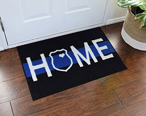 Police and Leo Home Welcome Door Mat Thin Blue Line