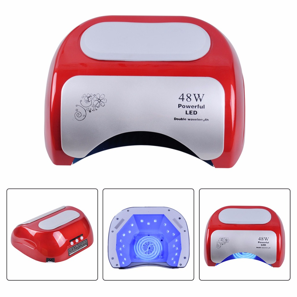Biutee 48W CCFL Nail Dryer Polish Machine UV Lamp LED Lamp Nail Lamp for Curing Nail Polish Gel Nail Art Automatic Hand Sensor fifty shades darker