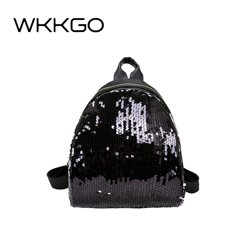 WKKGO Small Girl Shopping Purse Bag Lady Clutch Mobile Pack Student Backpack Fashion Sequin Flash Rucksack Women Travel BackpackWKKGO Small Girl Shopping Purse Bag Lady Clutch Mobile Pack Student Backpack Fashion Sequin Flash Rucksack Women Travel Backpack