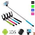 Z07-5s 100 cm extendable handheld selfie vara com botão do obturador remoto 3.5mm cabo wired selfie monopé para ios android telefone