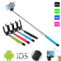 Z07-5s 100 cm extensible handheld selfie stick con botón 3.5mm cable wired selfie monopod disparador remoto para ios android teléfono