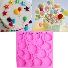 DIY Balloon Cake Border Silicone Molds Birthday Fondant Decorating Tools Gumpaste Chocolate Moulds cake pops T0981