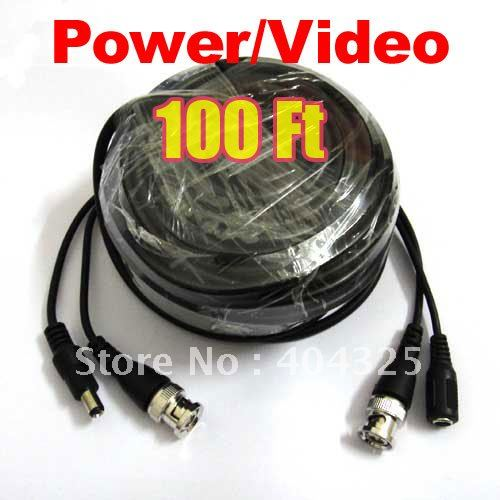 100ft 30M font b Video b font Power Cable BNC For CCTV Security Camera a77