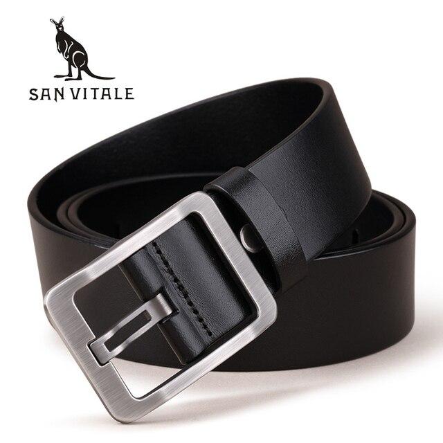 100% Genuine Leather Vintage Style Belt For Men