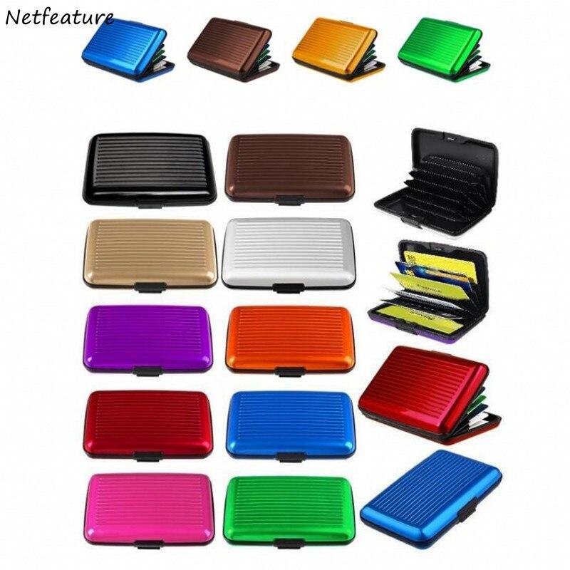 Creative Travel Portable Multifunction Aluminum Credit Card Pack Business Card Case Docu ...