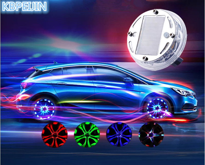 4Pcs Solar LED Wheel  Neon Light Decoration for SUBARU Forester Outback impreza Legacy XV Forester 2014 2016 2009 Accessories