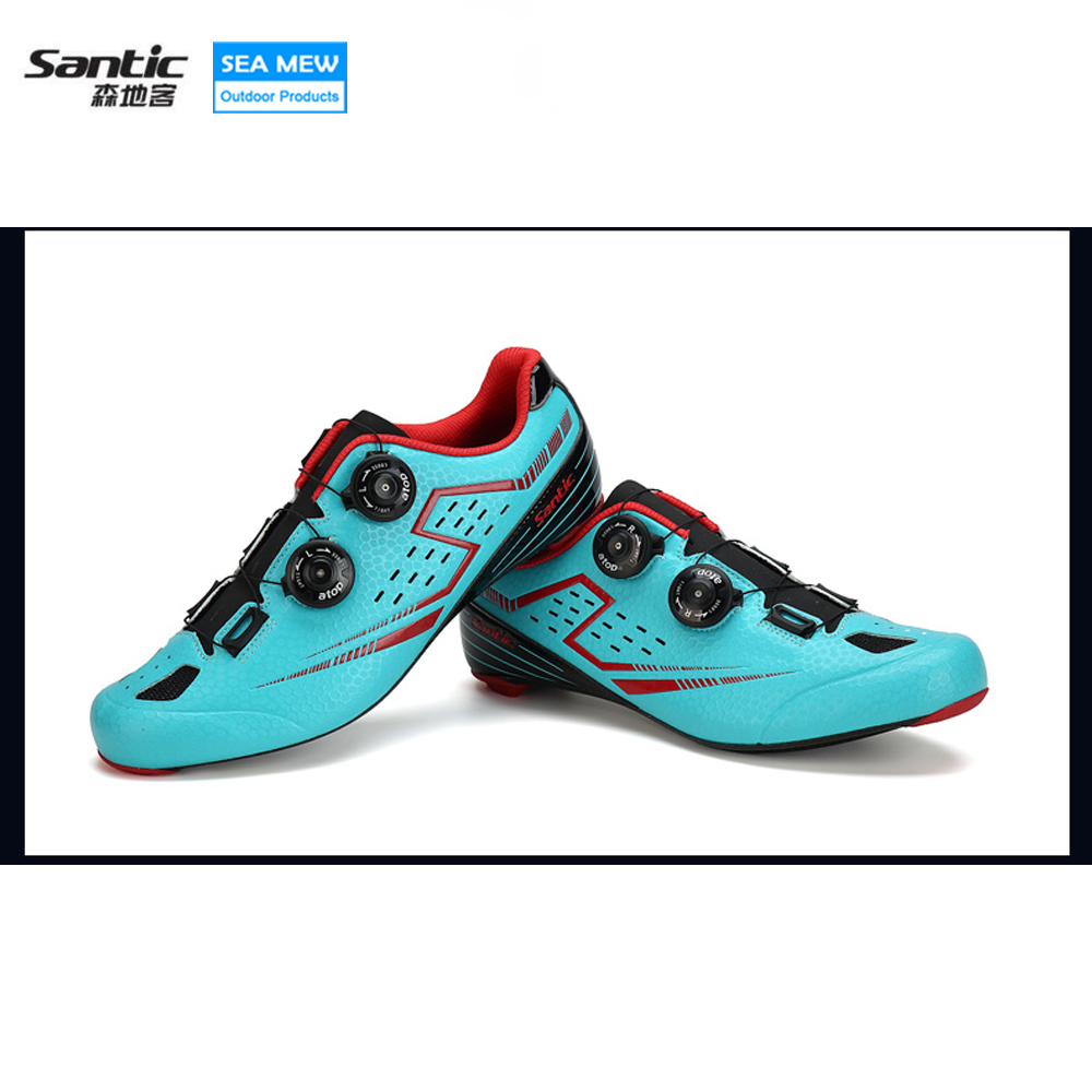 Santic Biking Cycling Shoes Road Carbon Fiber Breathable bike Bicycle Shoes Ultra Light Cycle Sneakers Sapatilha Ciclismo west biking bicycle black luggage mat cycling load road bike mtb outdoor bicicleta cycle cargo rear rack back saddle set riding