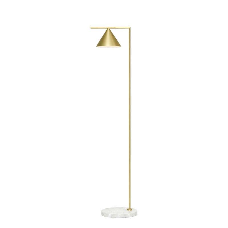 Латунная прикроватная Напольная Лампа для салона, стоящая лампа, Современная заземленная лампа, Скандинавский дизайн, медный светодиодный фонарь для гостиной, дома