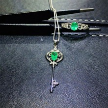 купить SHILOVEM 925 sterling silver Natural Emerald rings pendants send necklace Jewelry wedding women wholesale jctz0406040589agml по цене 10867.79 рублей