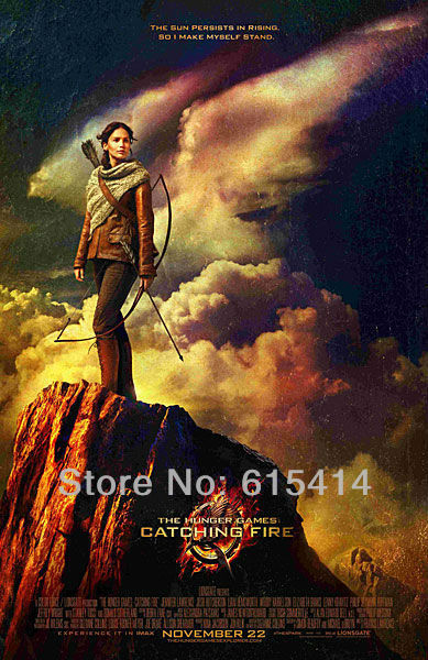 "03 The Hunger Games Katniss Jennifer Lawrence 2013 movie 24""x37"" inch wall Poster with Tracking Number"