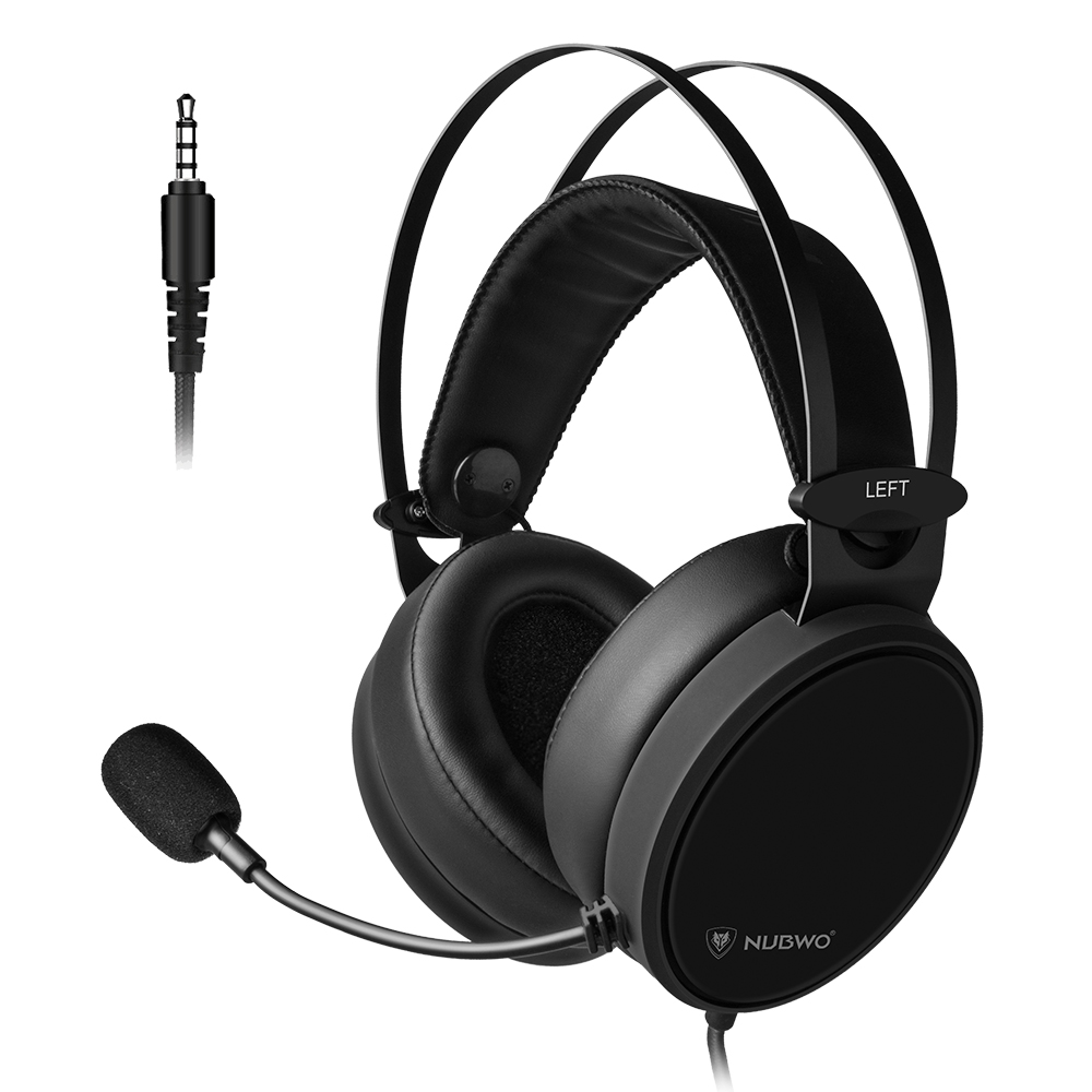 N7 3.5mm Gaming Headset Gamer Headphones On Ear Deep Bass Earphone With Microphone For New Xbox One PC Smart Phone Laptop image