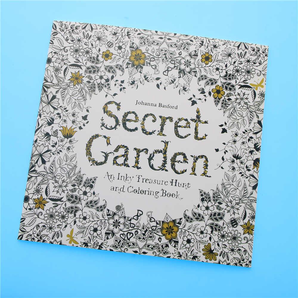24 Sayfa Secret Garden Ingilizce Baski Boyama Kitabi Cocuk