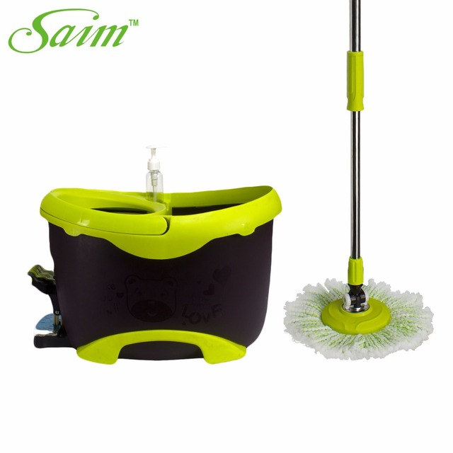 new portable magic spin mop bucket fourdrive hand pressure rotating spin mop head stainless