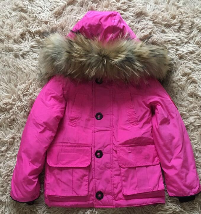 2017 Fashion Girl winter down Jackets Children Coats warm baby 100% thick duck Down Kids Outerwears for cold -30 degree jacket fashion boys down jackets coats for winter warm 2017 baby boy thick duck down coat real fur children outerwears for cold winter