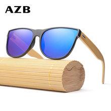 AZB NEW Fashion Sunglasses PC Quadro Feito À Mão Óculos De Sol De Bambu  Madeira Óculos de Sol para Mulheres dos homens Porized o. c2b756b7d3