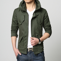 Bomber Jacket Men Autumn Winter Outwear Casual Cotton Washed Coats Stand Collar Army Military Flight Jacket Male Army Clothes