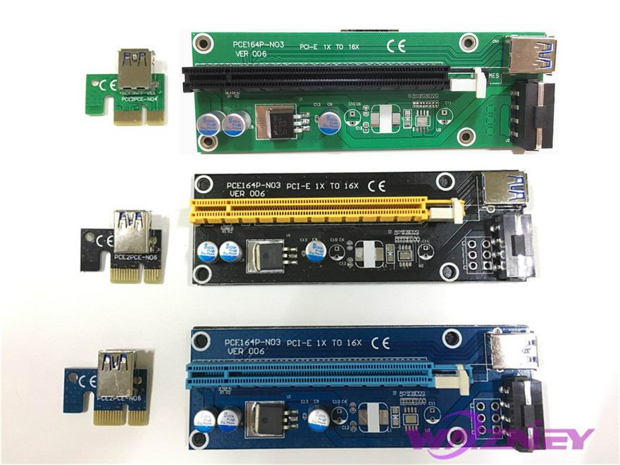 1х до 16х pci express riser card цена