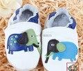 Soft Sole leather shoes White color Blue Elephant applique pre-walking shoes you pick size freely Factory sale