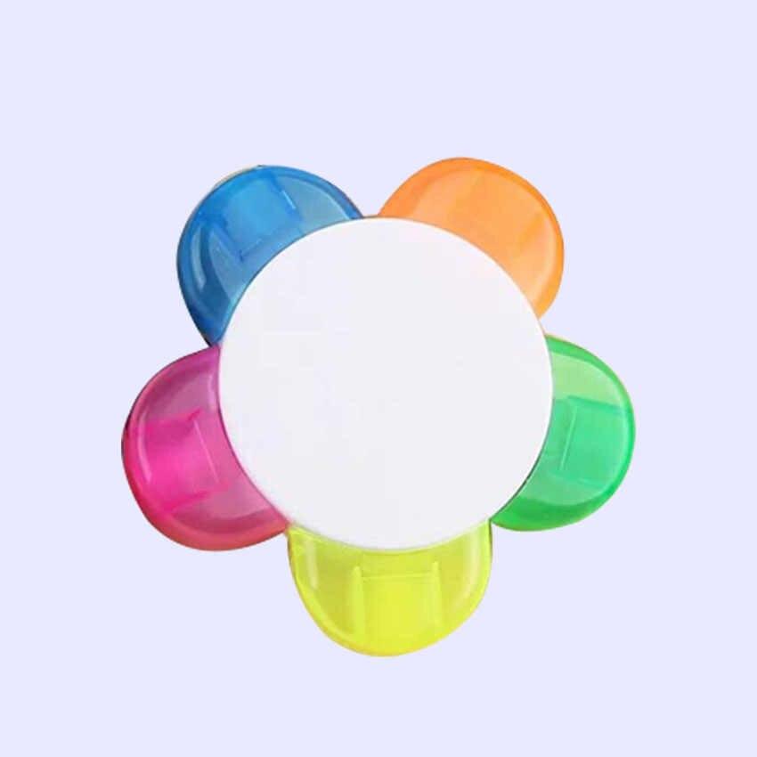 Renkli Pentagram fosforlu kalemler yazma Marker floresan kalem okul ofis malzemeleri öğrencileri ödülleri LOGO özelleştirebilirsiniz