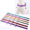 Brand New Puppy Dog Collar With Bells Flashing PU Leather Neck Strap Pet Collar For Small Dogs Cats Sizes S M