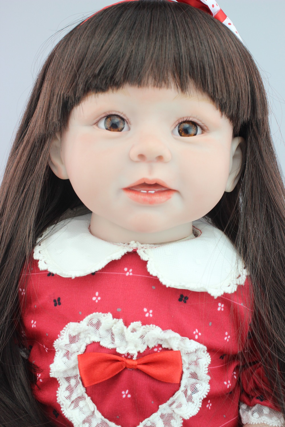 ФОТО hot -selling 28inch 70cm dolls  lifelike reborn toddler doll soft silicone vinyl real gentle touch