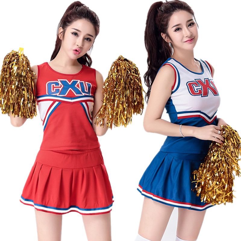 S Xl Sexy High School Cheerleader Costume Women Sportswear -4954