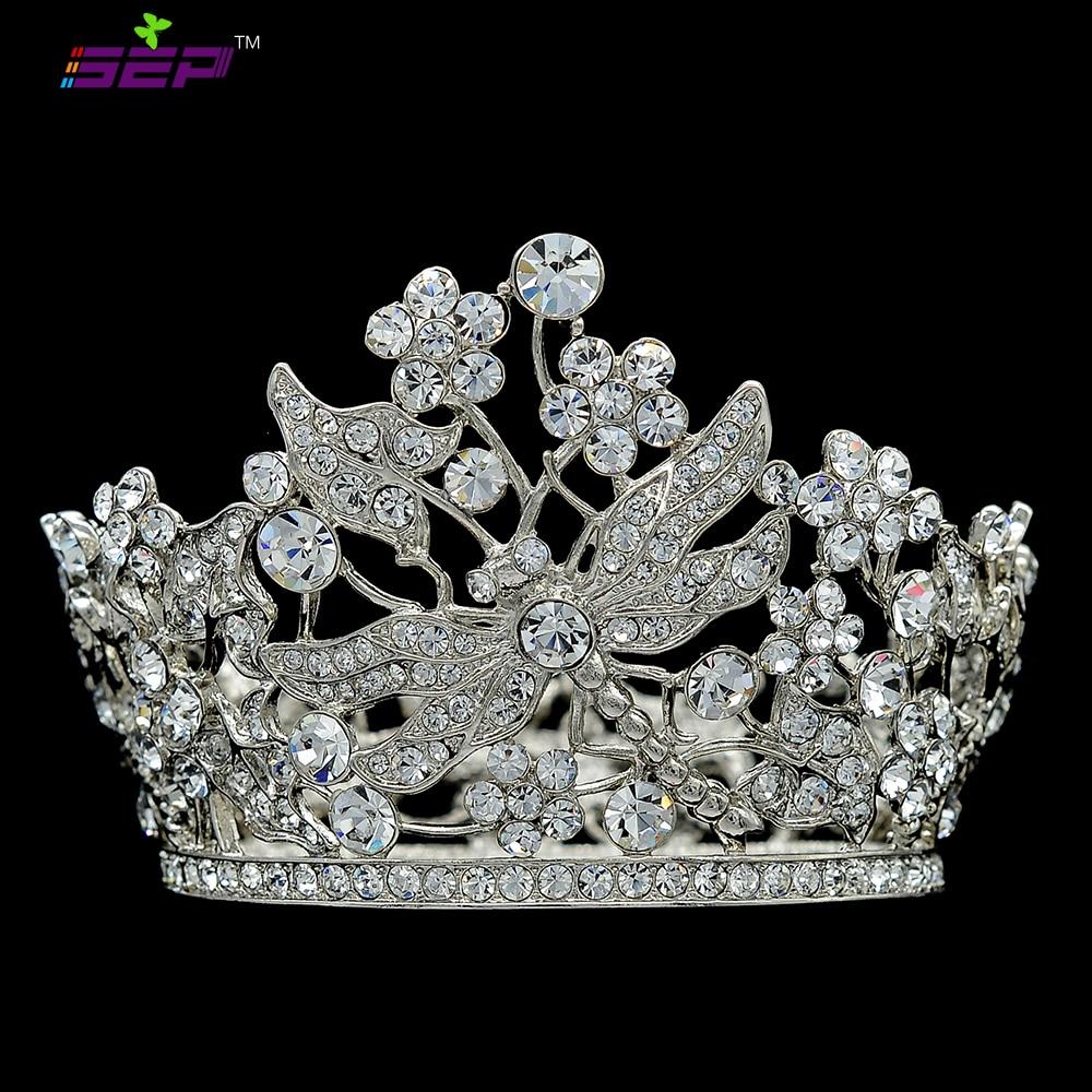 Mini Round Flower Tiaras Crowns Headbands Wedding