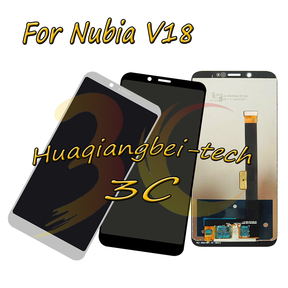 6.01 New Black / White For ZTE Nubia V18 Full LCD DIsplay + Touch Screen Digitizer Assembly Replacement 100% Tested6.01 New Black / White For ZTE Nubia V18 Full LCD DIsplay + Touch Screen Digitizer Assembly Replacement 100% Tested