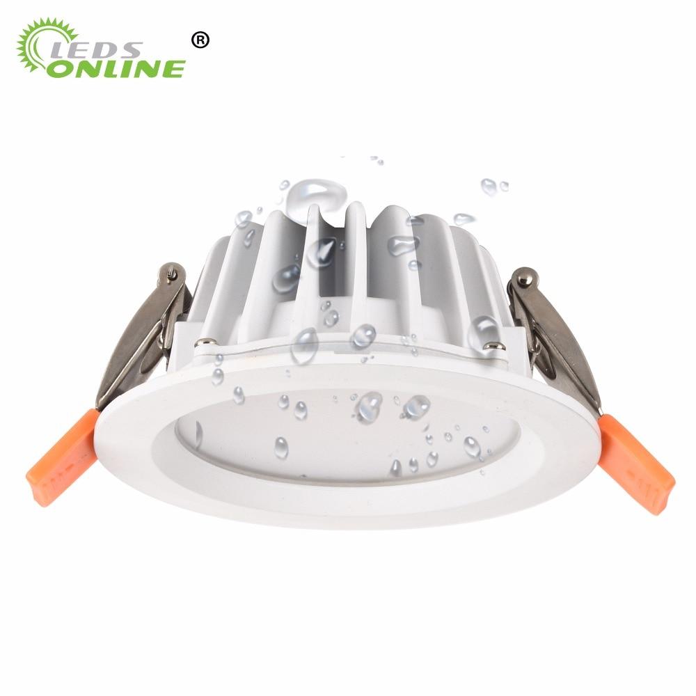 Local led ip65 à prova de fogo à prova dwaterproof água lâmpada downlight 5 w 7 w 9 w conduziu a iluminação de teto para sauna banho de vapor cozinha banheiro beirais