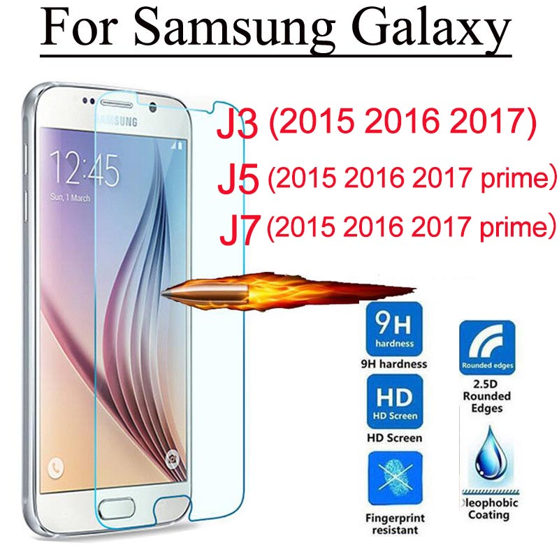 Tempered Glass Screen Protector For Samsung Galaxy J3 J5 J7 2015 2016 2017 j500 j510 j700 j710 prime Protection Cover Film Guard