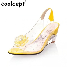 Big Size 34-43 Factory Price Rome stylish high quality fashion wedge heel sandals dress casual shoes ladies sandals PA00892