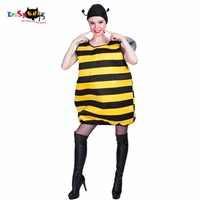 ผู้หญิงเซ็กซี่ Bumblebee Chu - bee Bug แมลงสัตว์เครื่องแต่งกายคอสเพลย์ปาร์ตี้ผึ้งชุดแฟนซีสำหรับหญิงสุภาพสตรีผู้ใหญ่ฮาโลวีนเครื่องแต่งกาย