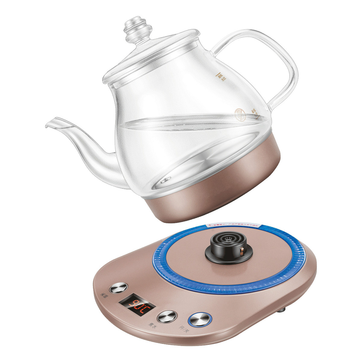 Electric kettle The electric has a multi-function automatic power failure glass boiler