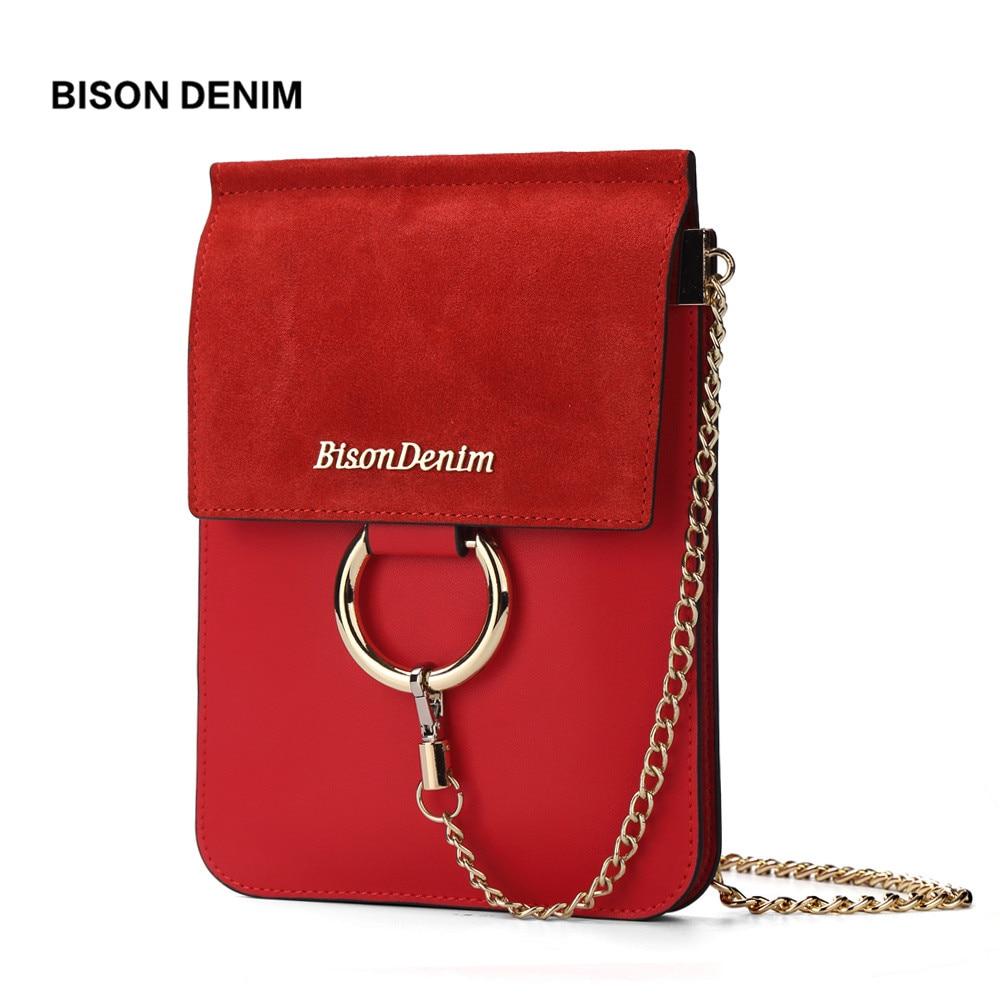 BISON DENIM prekės ženklas odiniai krepšiai apvali aksesuarai - Rankinės