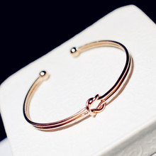 Simple Trendy Open Bracelet Adjustable New Fashion Jewelry Gold-color Cuff Bracelets & Bangles For Women Bijoux Gift