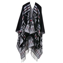 Za Winter Oversized Geometric Blanket Cashmere Shawl 2016 Luxury Brand Tartan Pashmina Scarf Popular Design Warm Poncho And Cape