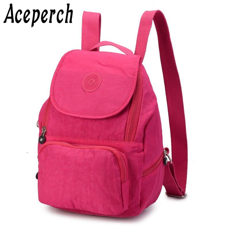 Aceperch Mode Schule Rucksack Für Teenager Mädchen Mochila Feminina Escolar Frauen Rucksäcke Nylon Wasserdichte Bagpack Weibliche Quell Sommer Durst Herrentaschen