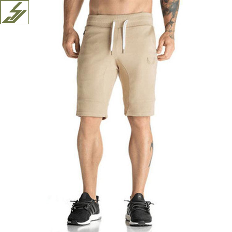 SJ 2017 New Brand Cotton Men shorts Bodybuilding Fitness Gasp workout jogger shorts golds Camouflage/khaki/black