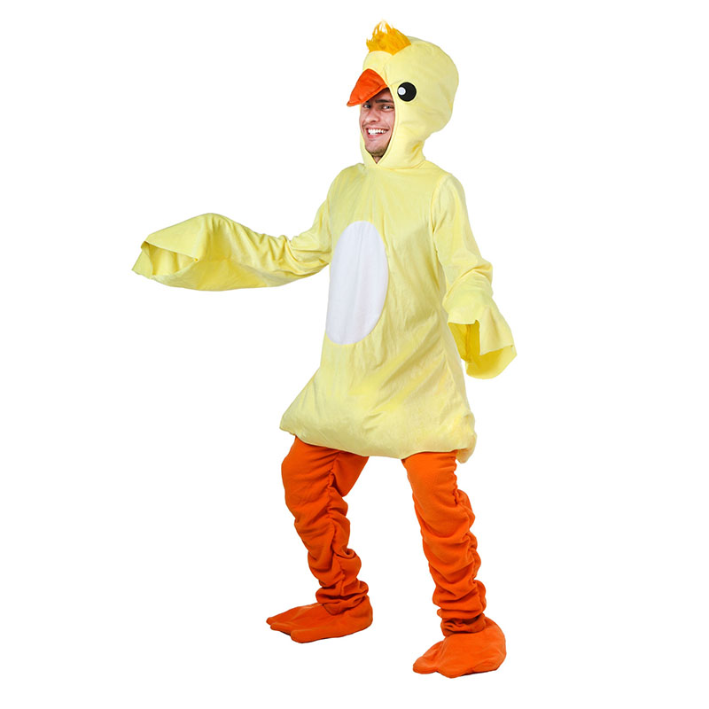 Winter Adult Small Yellow Duck Costume For Men Man's Cosplay Costumes Attached Cuddly Animal Clothes Disfraces Adultos
