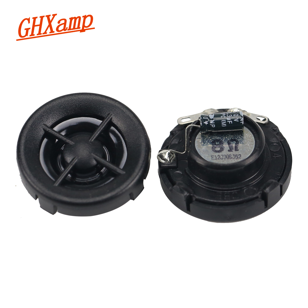 GHXAMP 1 INCH 8ohm 20W Car Tweeter Speaker Units Neodymium Super Treble 14 core Voice coil high frequency Mini Loudspeaker