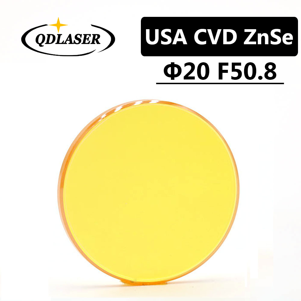 USA CVD ZnSe Laser Focus Lens Dia. 20mm FL 50.8mm 2 for CO2 Laser Engraving Cutting Machine