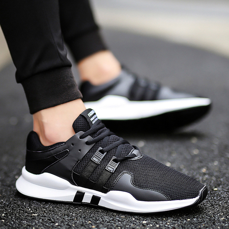 European Spring/Autumn lace up men shoes high quality solid fashion man sneakers mesh cool hot sales adult casual shoesEuropean Spring/Autumn lace up men shoes high quality solid fashion man sneakers mesh cool hot sales adult casual shoes