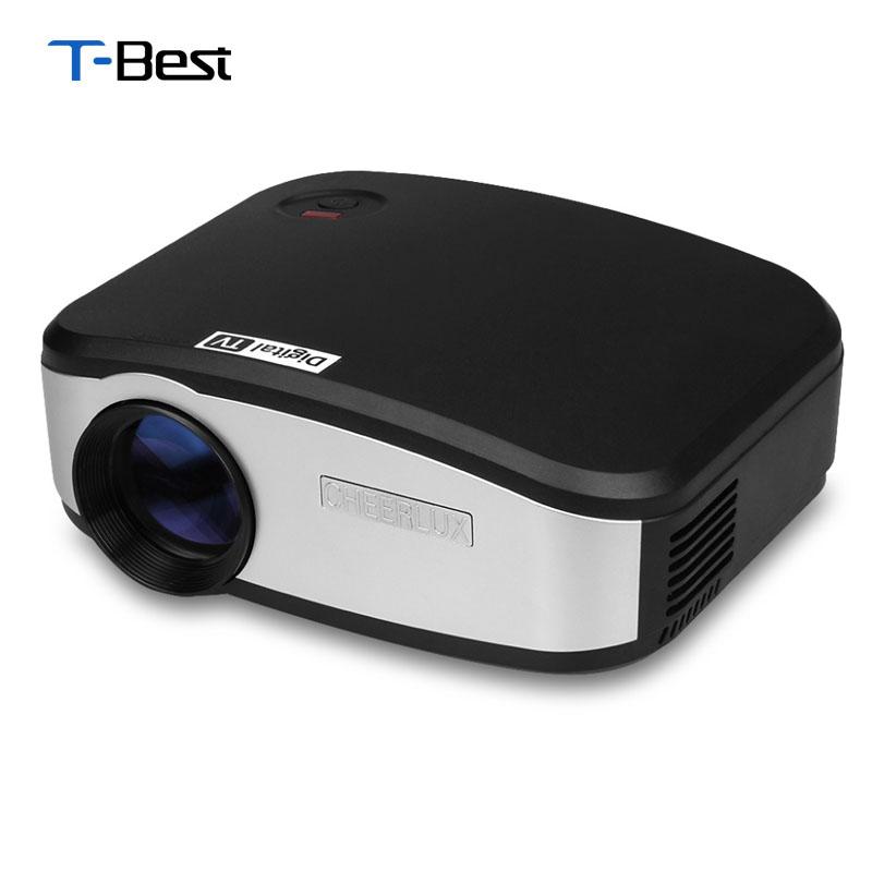 Prix pour CHEERLUX C6 Mini LED et LCD Projecteur 800x480 Pixels 1200 Lumens Home Cinéma HDMI/USB/VGA/AV/TV Proyector Pour Vidéo, Gmaes, Enseignement