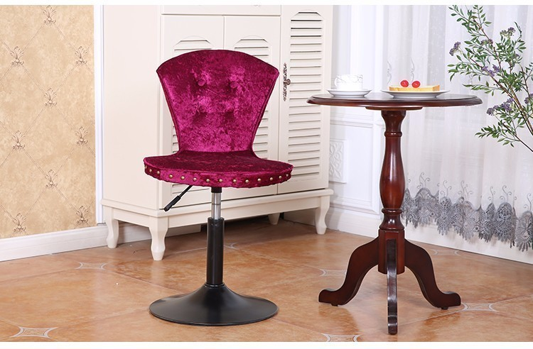 European bar stool Rose red Purple color seat bedroom PC chair free shipping bar counter rotation PU leather chair baby seat inflatable sofa stool stool bb portable small bath bath chair seat chair school