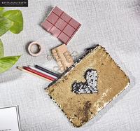 Nuovo Caso di Matita Set Reversibile Sequin Materiale Scolastico Bts Dono di Cancelleria Matita Box Carino Pencilcase Strumenti di Scuola Matita Casi
