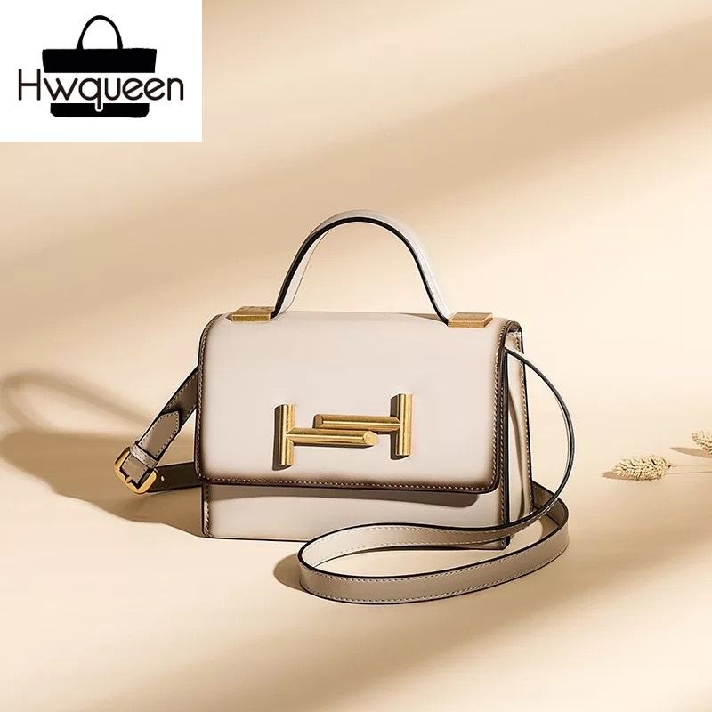 Fashion Designer Genuine Leather Lady Flap Purse Long Strap Women Single Shoulder Bag Beige Handbag Female Small Messenger Bag j m d crazy horse leather women flap messenger bag casual sling bag small lady purse c005b