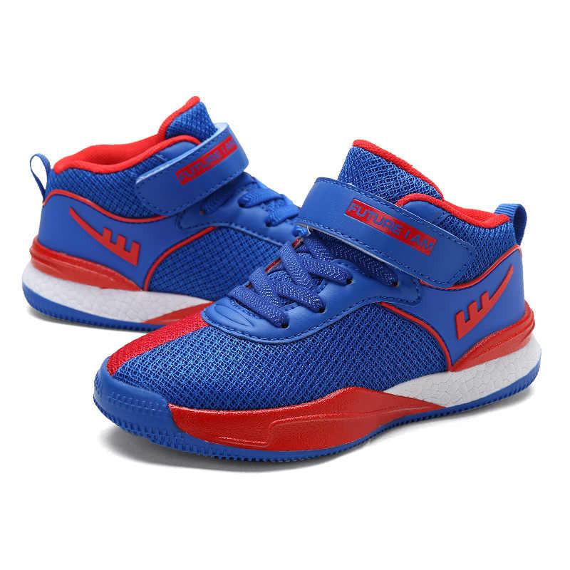 8a635e71d920 ... 2018 новые сетчатые Дышащие Детские баскетбольные кроссовки для мальчиков  девочек открытый кроссовки Детская спортивная обувь средний ...