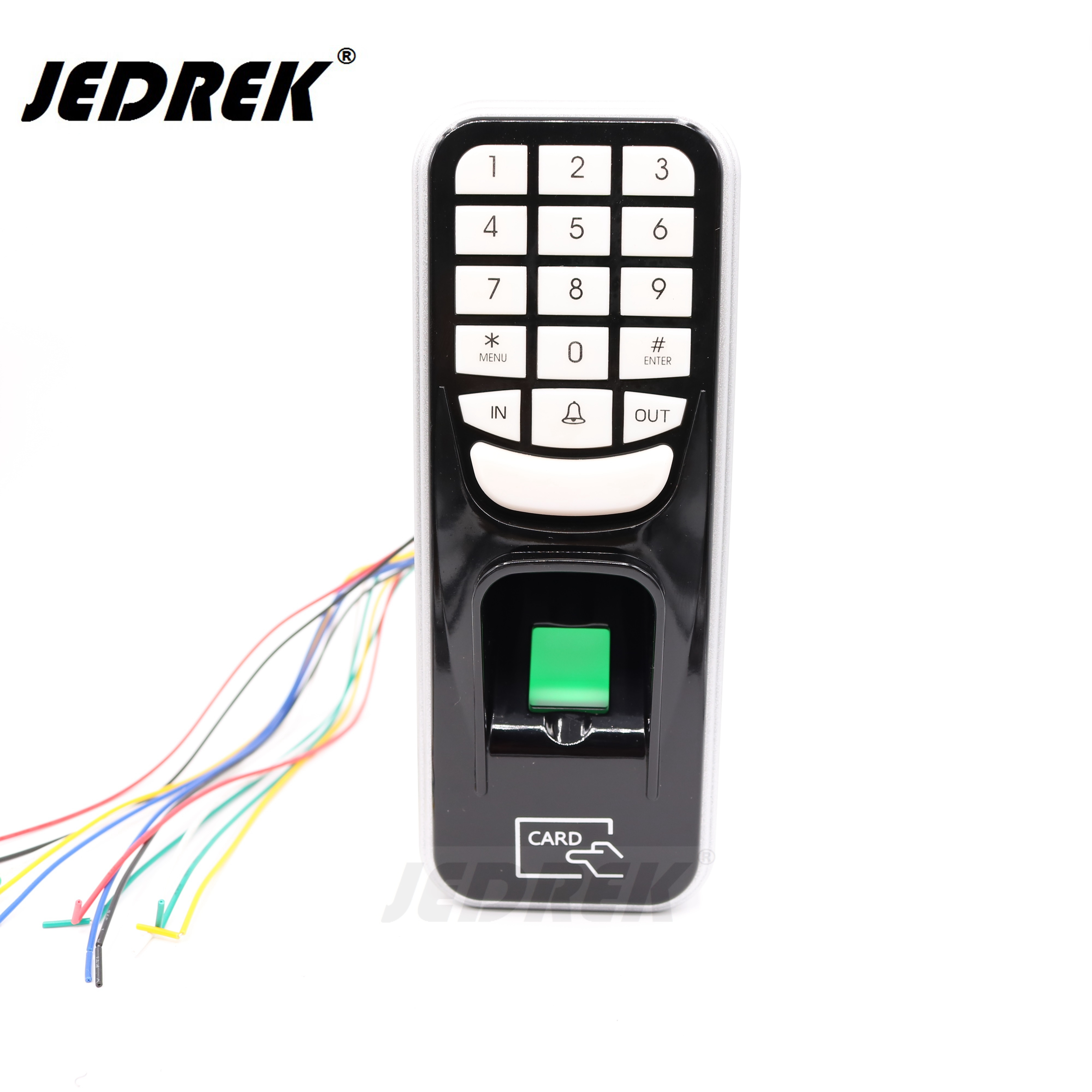 Bio Fingerprinter RFID 125khz EM Card standalone keypad with U disk export interface for door access control+power supply 10 rfid card 125khz em keypad card access control system kit power supply door swtich button