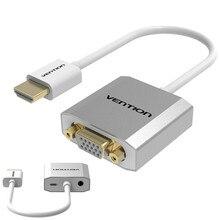 Vention HDMI конвертер VGA с AUX и питания аудио адаптер М/М видео кабель для Xbox 360 PS3 PS4 PC ноутбук TV Box проектор